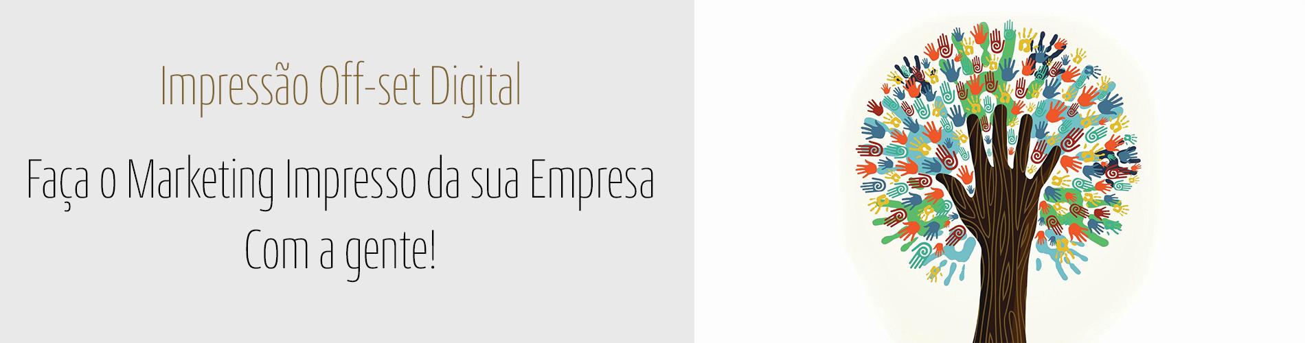 impressão offset e impressão digital